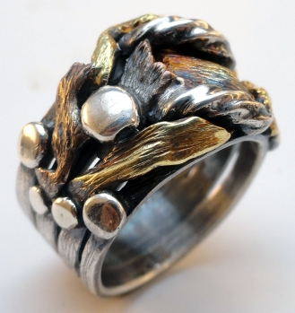 3:4 View 'Sterling & Bronze Salvage Ring' (Joseph Cordova 2012)