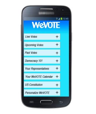 WeVote_Menu Screen