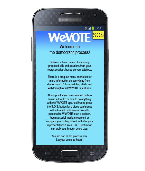 WeVote_Welcome Screen