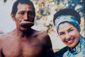 Blake's gandmother, Dr. Naomi M. Coval pictured with a member of the Cayapo.